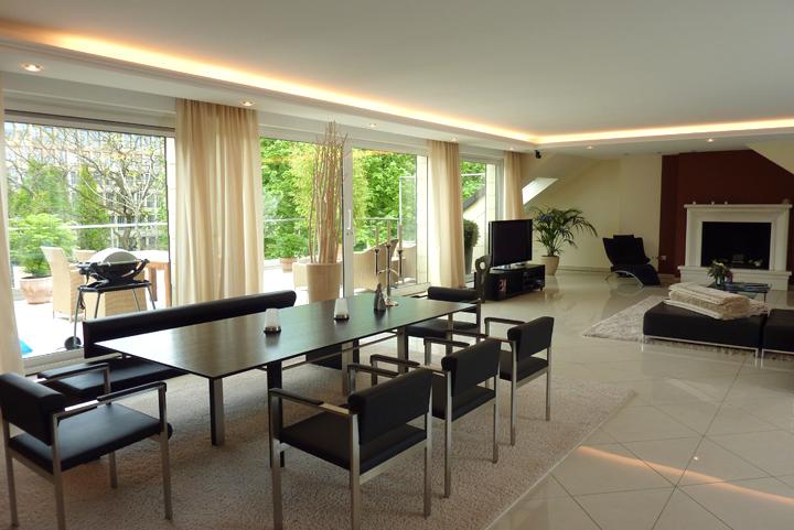 VERMIETET Luxus Penthouse mit 270qm Wohnfläche auf einer Ebene in Düsseldorf-Oberkassel